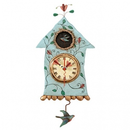 Enesco P8008 Allen Designs Wanduhr mit Pendel Fly Bird - 1