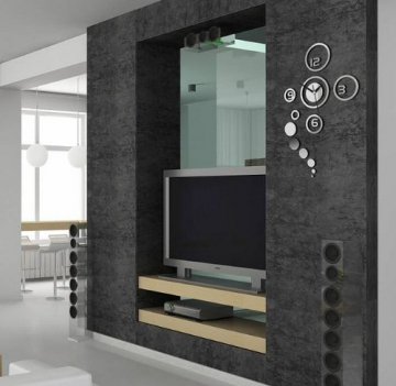 moderne wanduhr design wandtattoo dekoration uhren neu spiegel geschenk sch ne wanduhren. Black Bedroom Furniture Sets. Home Design Ideas